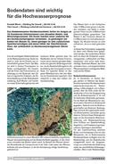 Titelbild Bodendaten sind wichtig für die Hochwasserprognose