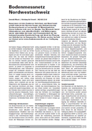 Titelbild Bodenmessnetz Nordwestschweiz, Artikel UMWELT AARGAU, Nr. 60, Mai 2013