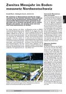 Titelbild Bodenmessnetz Nordwestschweiz: das zweite Messjahr